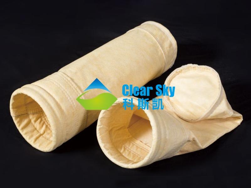 中温氢氟斯针刺毡滤袋/除尘布袋